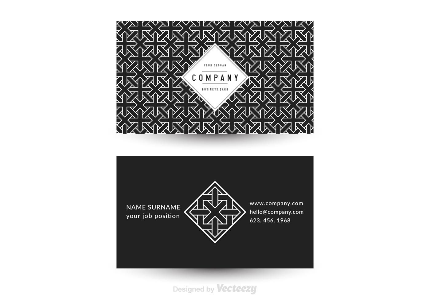 Free Job Card Template Magnificent Free Vector Geometric Business Card Template  Pattern  Pinterest .