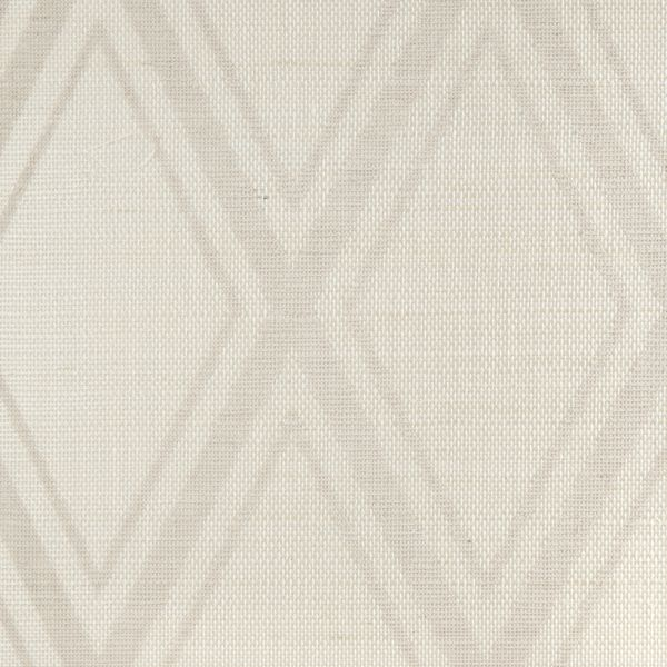 Patterned Grasscloth Wallpaper: Printed Grasscloth / Holland & Sherry Interiors