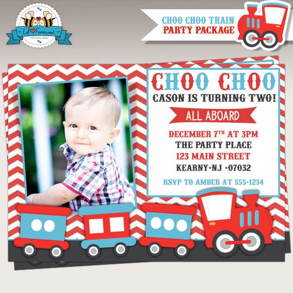 Choo Train Birthday Party Photo By LilFacesPrintables On Etsy 1495