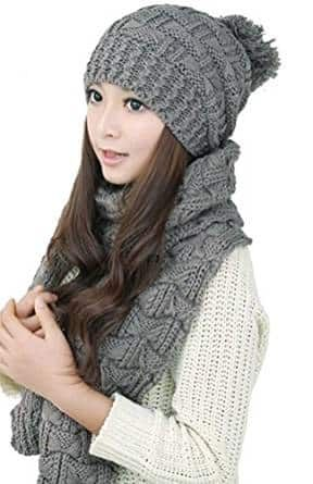 10-bienvenu-winter-warm-knitted-scarf-and-hat-set 89490545b203