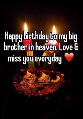 Image Result For Happy Birthday In Heaven Brother With Images