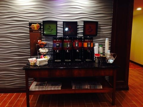 24 hr complimentary coffee, tea and hot chocolate station.