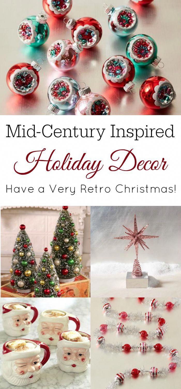 Retro Christmas Decor Retro Housewife Goes Green Retro Christmas Tree Retro Christmas Decorations Christmas Wall Decor