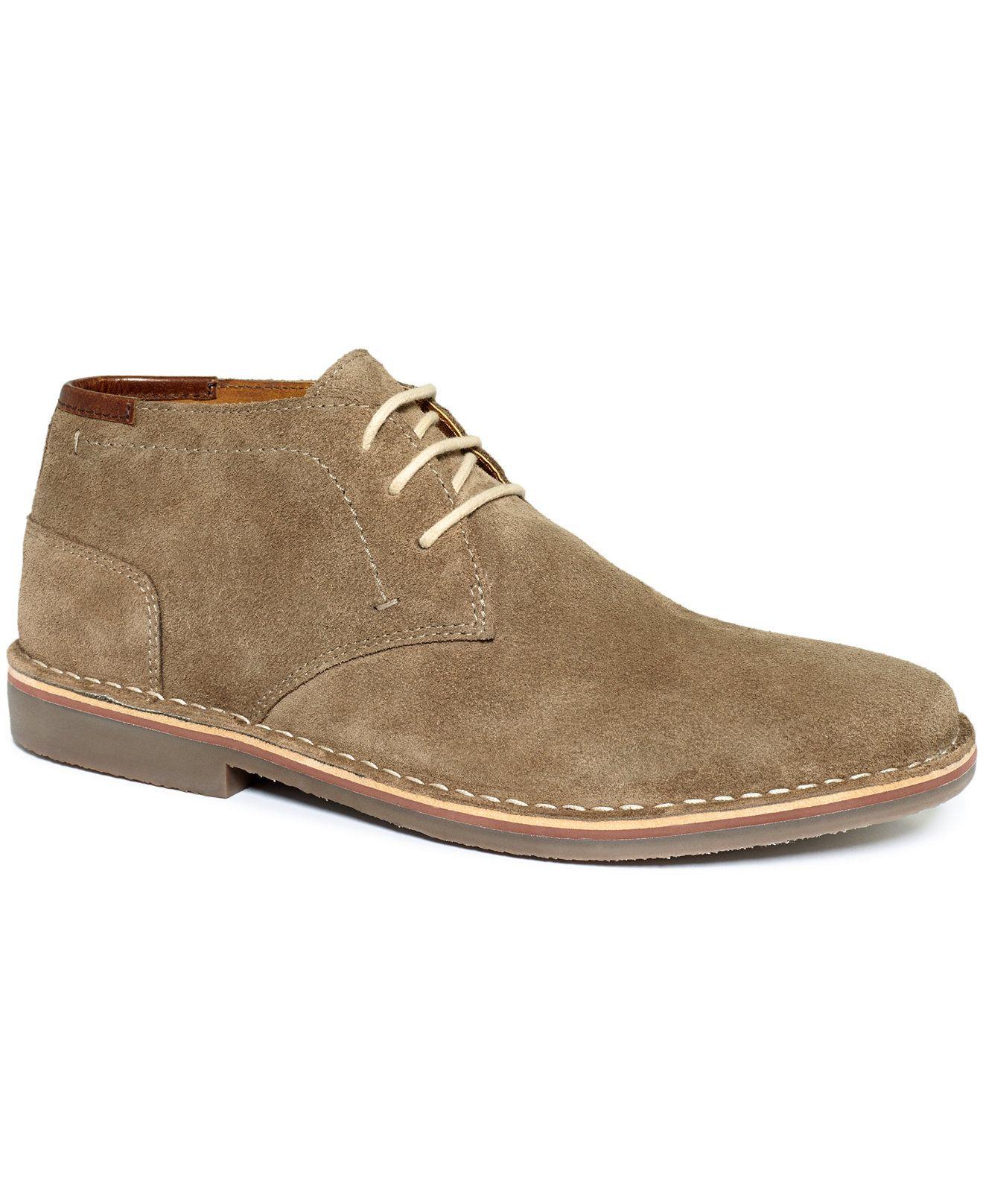 Kenneth Cole Reaction Desert Sun Suede Chukkas - All Men's Shoes - Men -  Macy's. Mens Suede Chukka BootsLace UpShoes ...