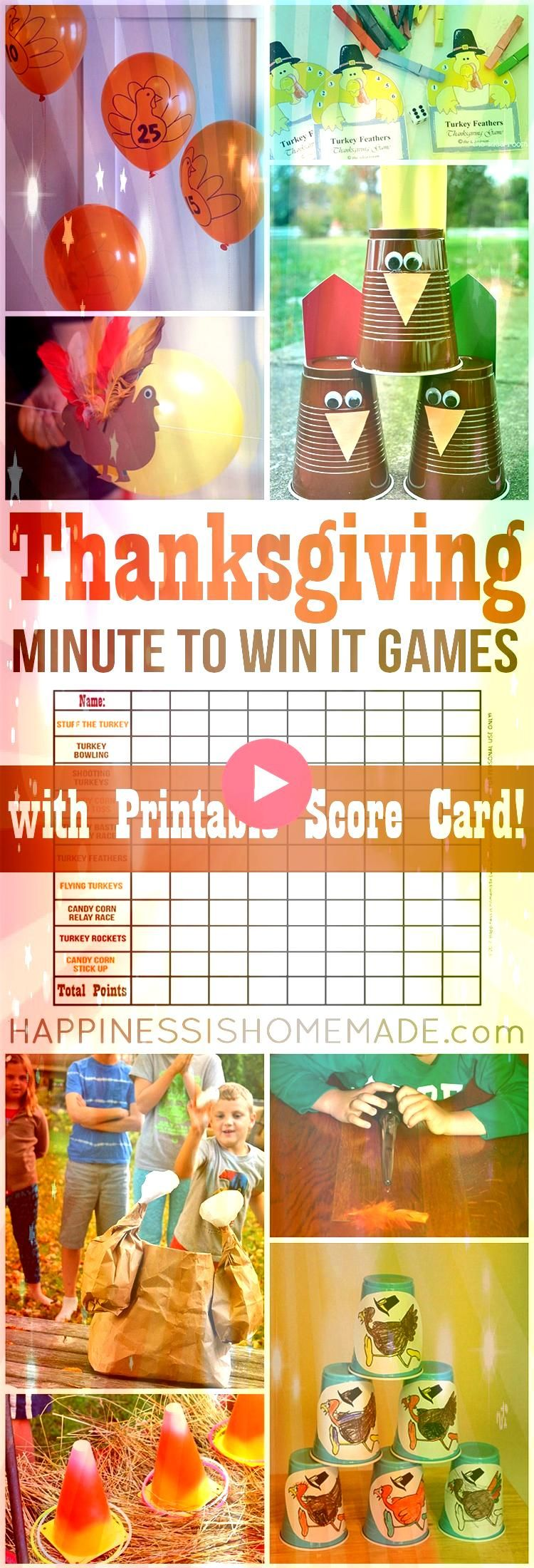 the best Thanksgiving dinner party ever with these fun Thanksgiving Minute  Host the best Thanksgiving dinner party ever with these fun Thanksgiving Minute   Play these 3...