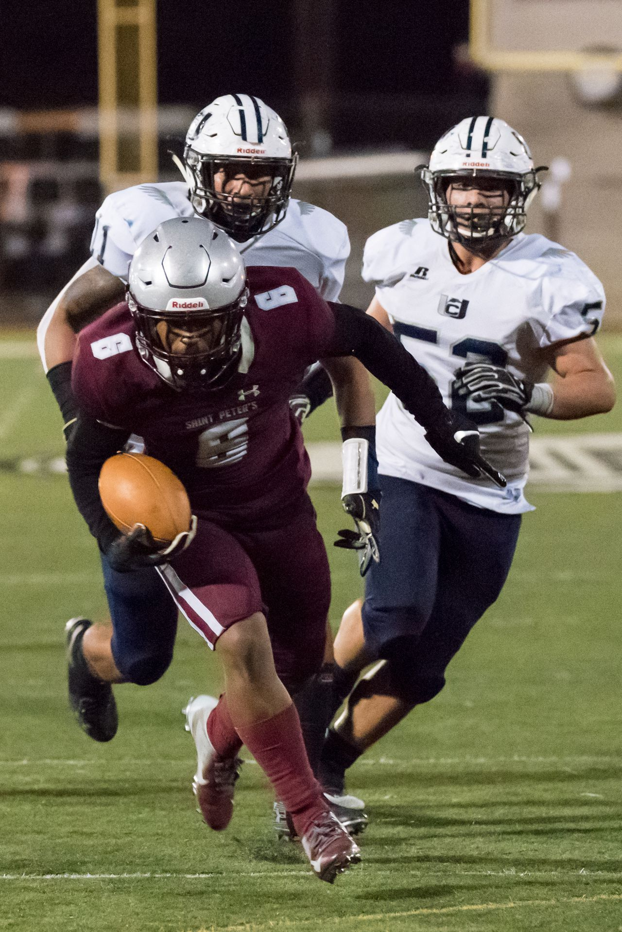 Football top 20 profile st peter s prep pushes hudson is