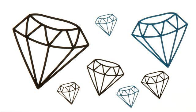 Diamantes Plantillas Buscar Con Google Tatuajes Temporales Diamante Dibujo Tatuajes Chiquitos