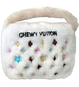 Luxury Designer Dog Toys Chewy Vuiton White Squeaky Pet Toys