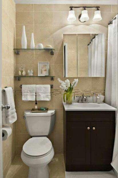Distribución Pequeño baño | Decoración del hogar ...