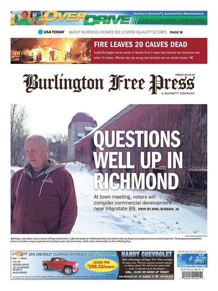 Today's Burlington Free Press www.burlingtonfreepress.com