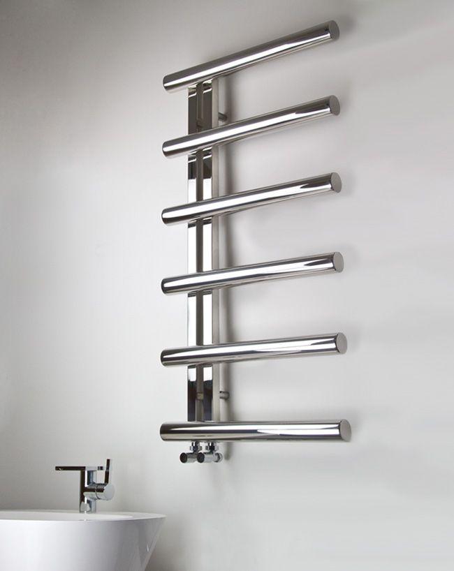 Tubular Polished Stainless Steel Towel Warmer 58e In 2020 Towel Rail Towel Radiator Stainless Steel Towel Rail