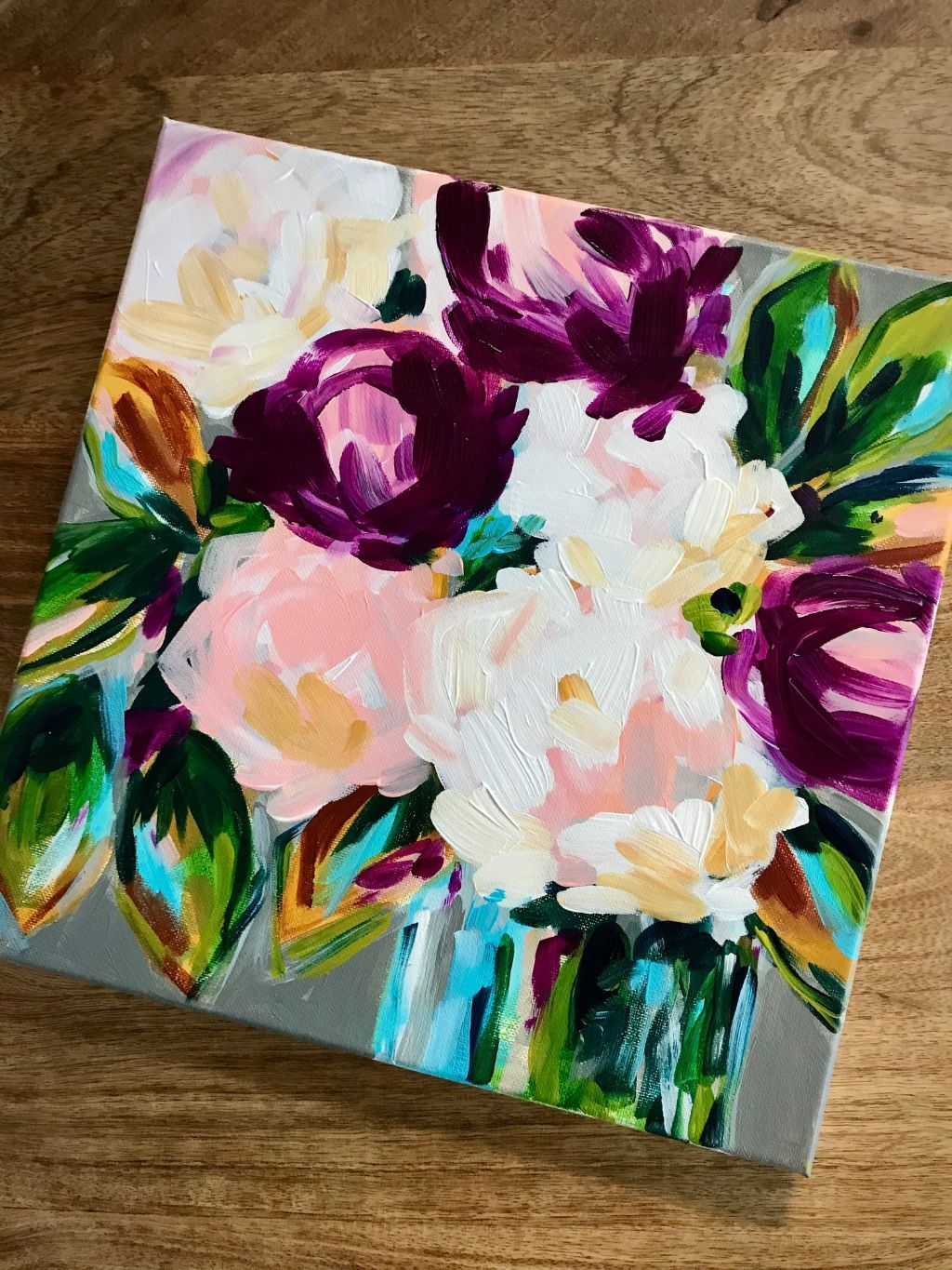 Easy Flower Painting Tutorial How To Paint Easy Abstract Flowers Step By Step In 2020 Abstract Flower Painting Acrylic Abstract Flower Painting Easy Flower Painting