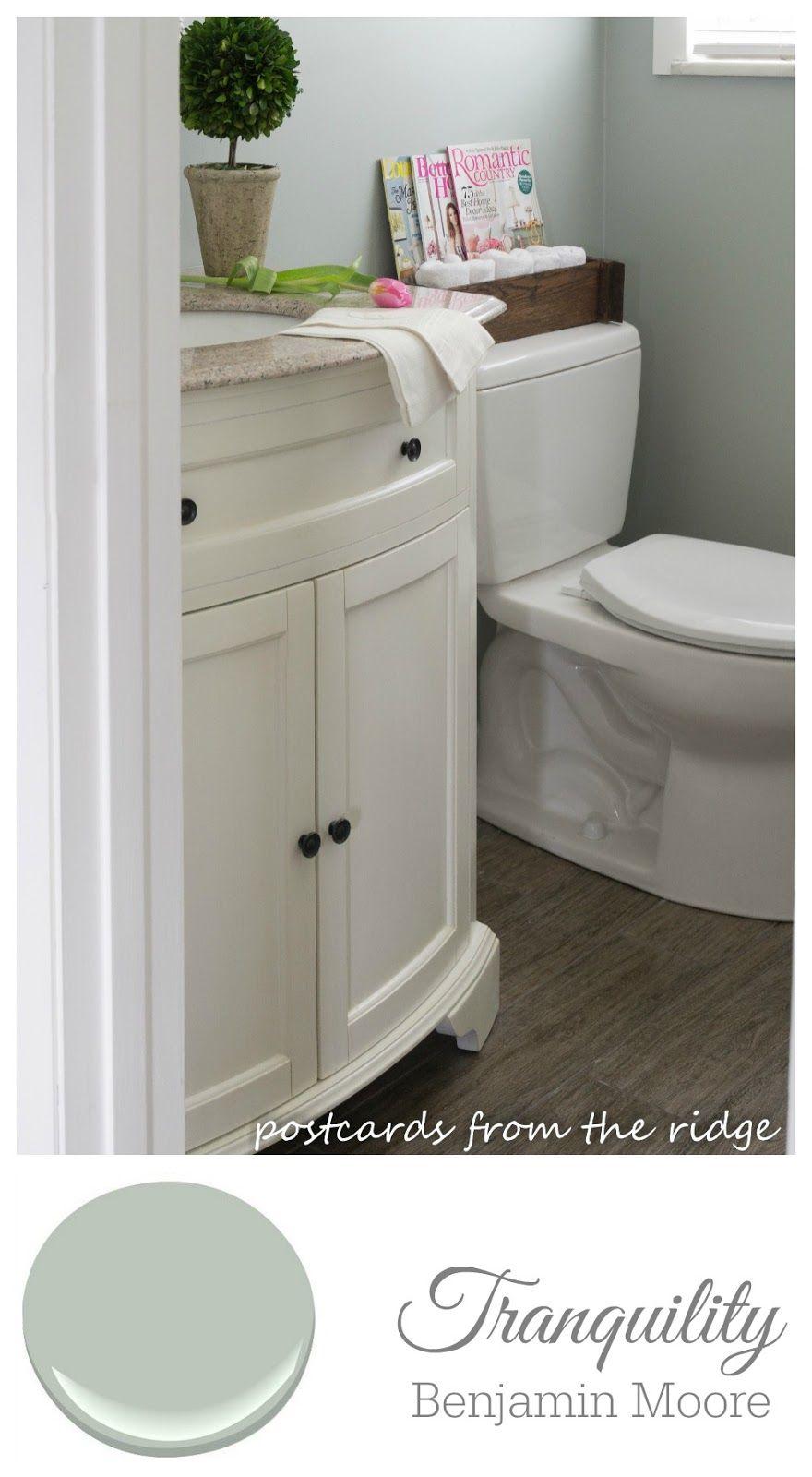 Benjamin moore colors for bathroom - Benjamin Moore Tranquility