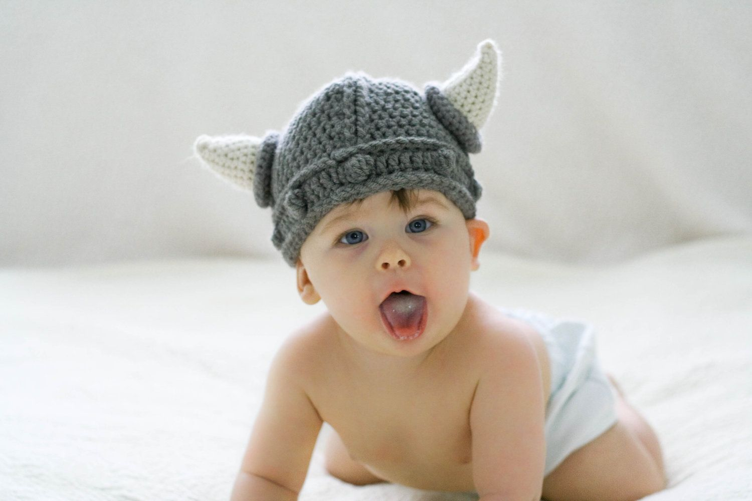 For your tiny viking. $20 | crochet | Pinterest | Bebe y Gorros