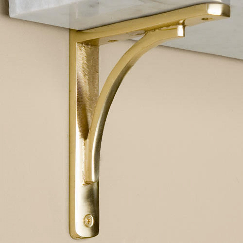 antique htm geometric prism brass brackets bookmark shelf