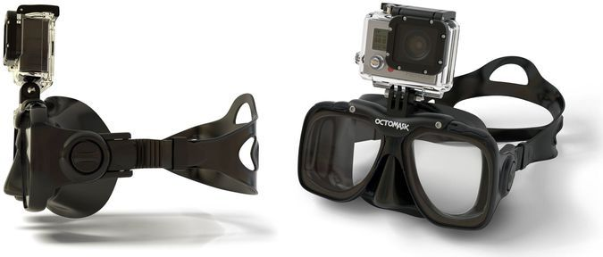 GoPro Action camera Scuba Diving Mask - Front And Side View http://coolpile.com/gadgets-magazine/octomask-scuba-mask-gopro-camera-mount/ via @CoolPile.com.com.Com  #CoolPile #Gadgets #Gear #Geek #Tech  Cool, Diving, Gear, Gifts For Her, Gifts For Him, Glass, GoPro, Scuba Diving, Silicone, Travel