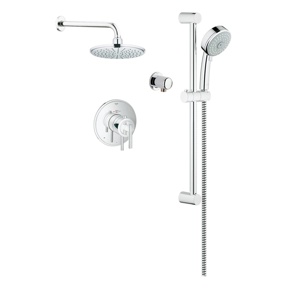 Shop Grohe 117161 Timeless THM Dual Function Shower Kit at Lowe\'s ...