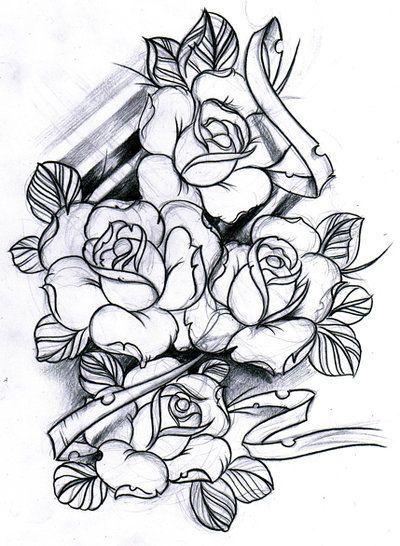 Traditional Rose Tattoo Rose Tattoo Rose Sketch Rose Tattoo Sketch Roses Sketch Tattoo Tattoo Esboco De Rosa Desenho De Rosas Desenhos Para Tatuagem