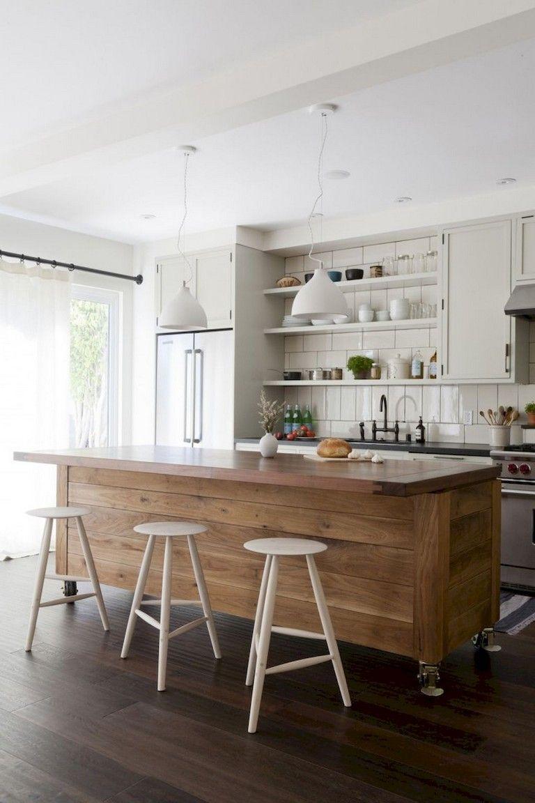 60+ Best Farmhouse Style Kitchen Islands Design Ideas ...