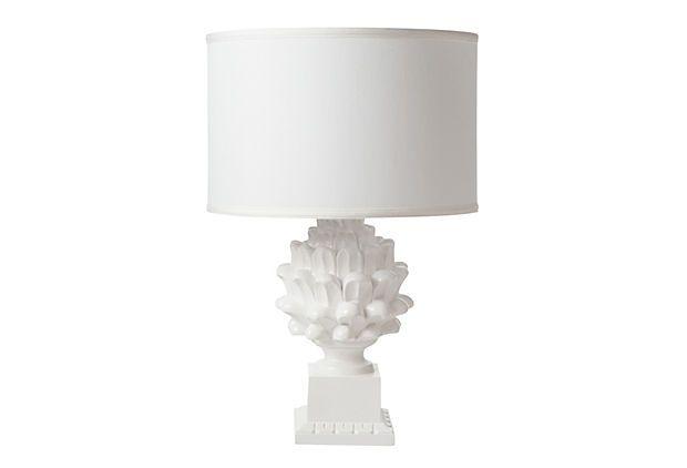 Artichoke Table Lamp, Gloss White On OneKingsLane.com