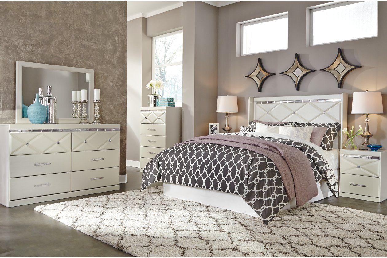Dreamur Queen Panel Bed Ashley Bedroom Furniture Sets Champagne Bedroom Bedroom Furniture Sets