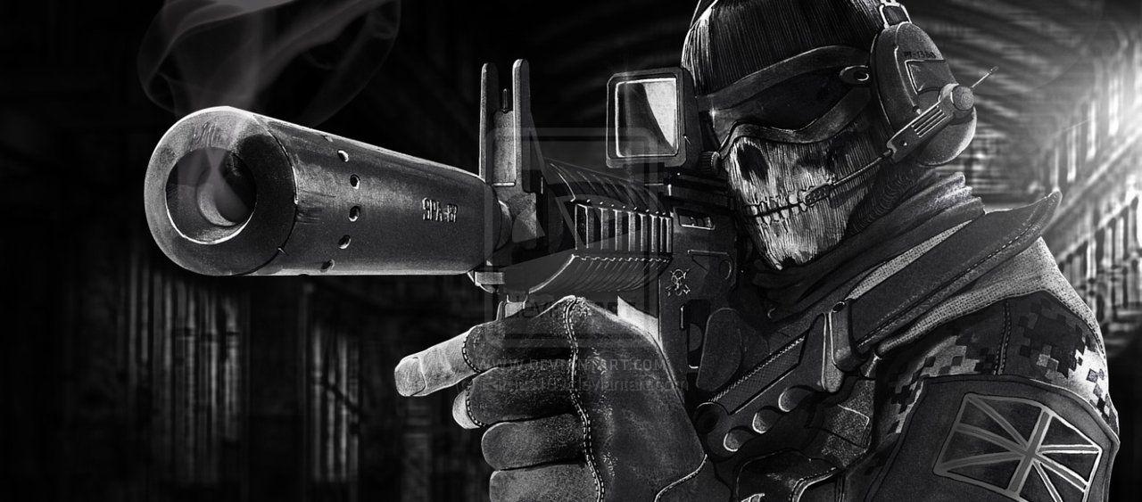 Ghost Modern Warfare 2 Wallpaper