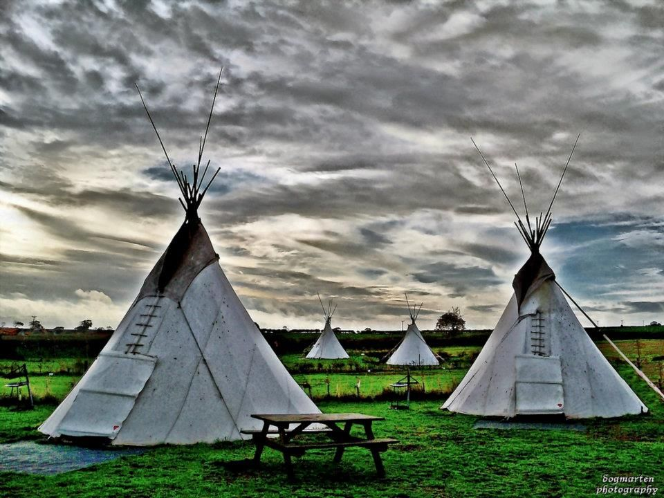 These Tipis At A Campsite In Burnham Deepdale Norfolk