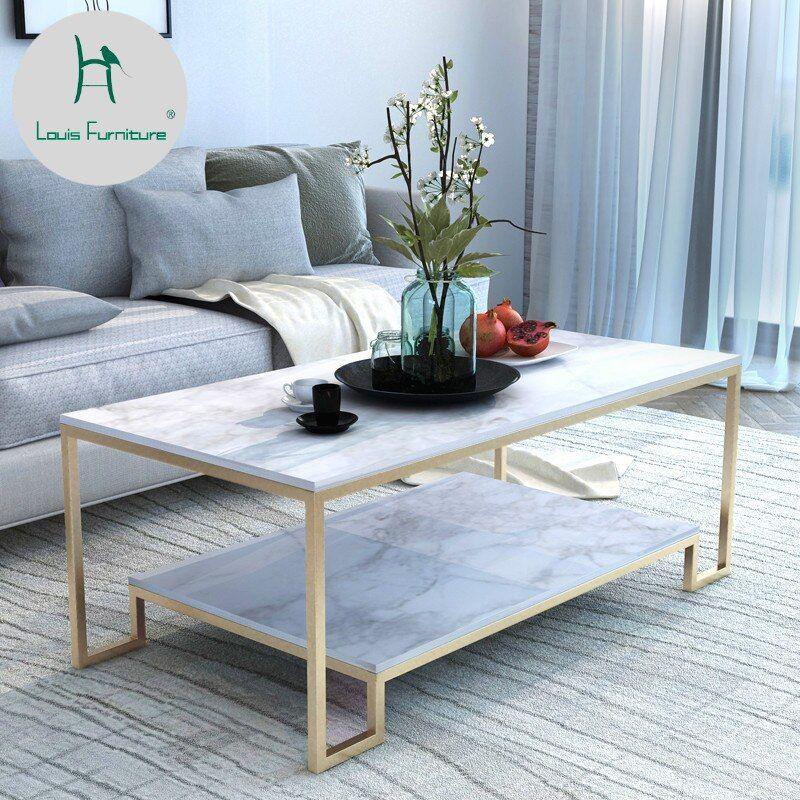louis fashion sofa tables nordic living room marble