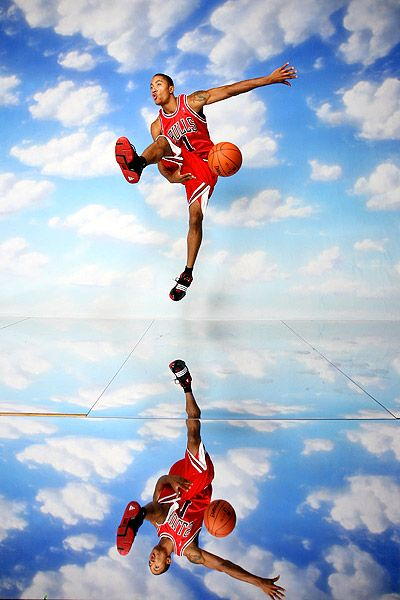 1658c0303f8 Derrick Rose in the sky follow us on instagram and on twitter ...