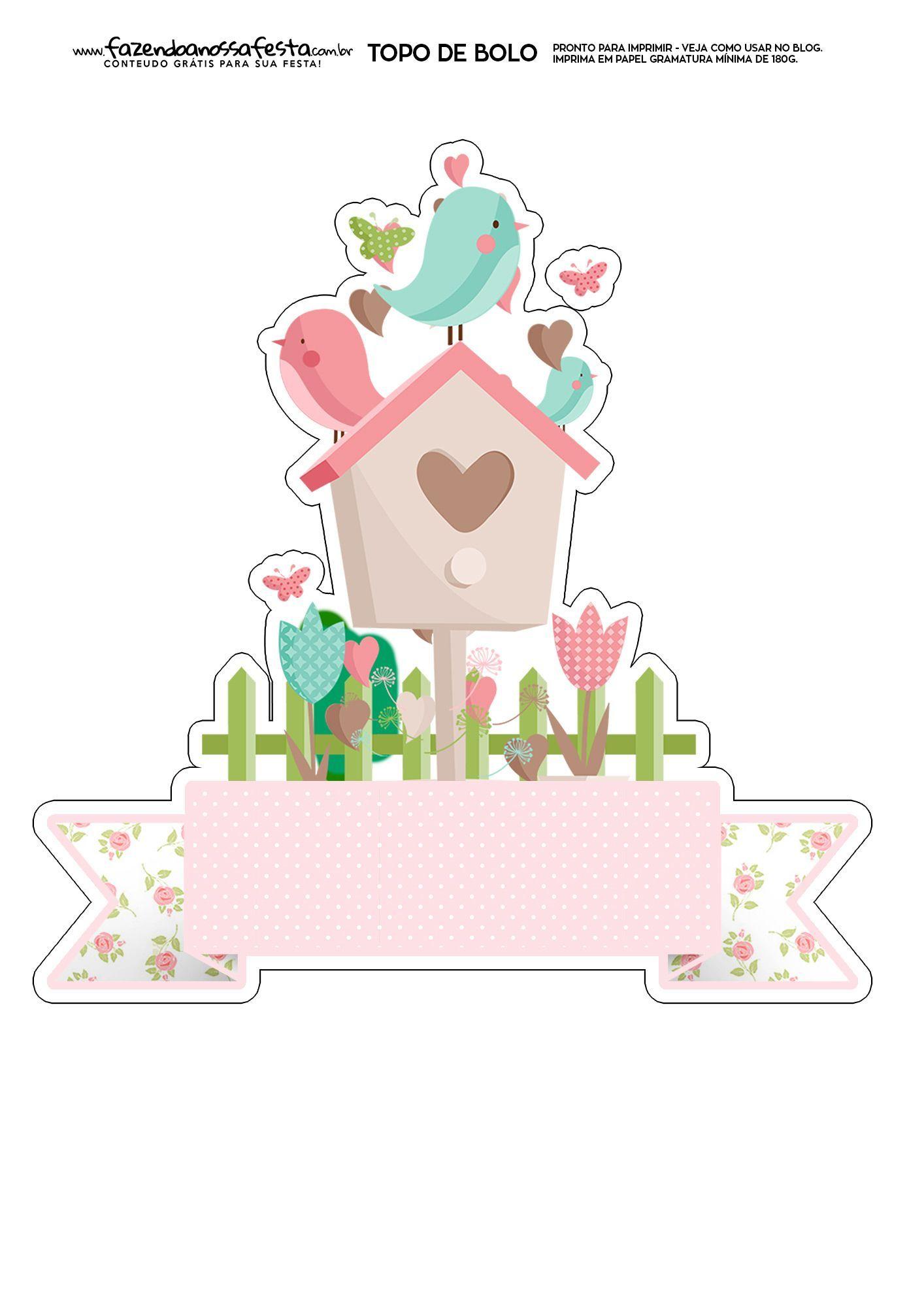 Free Printable Mother S Day Bird House Mykinglist Com Bolo