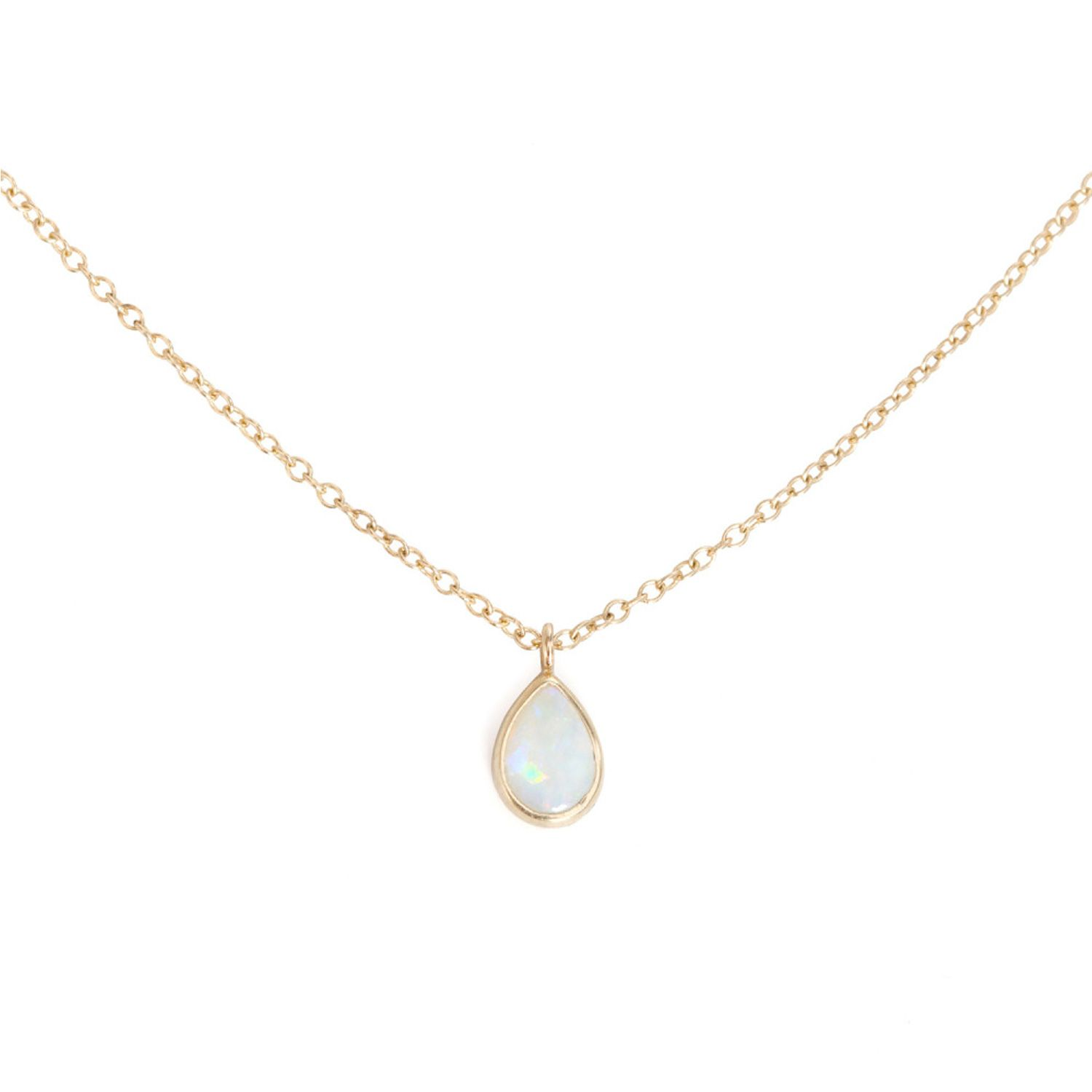 Opal Teardrop Necklace | Opals, Gold and Matching necklaces