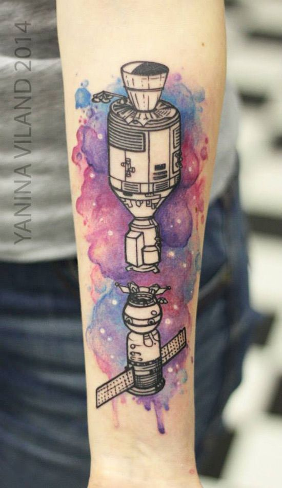 Gorgeous!!! Love the watercolour portrayal of space