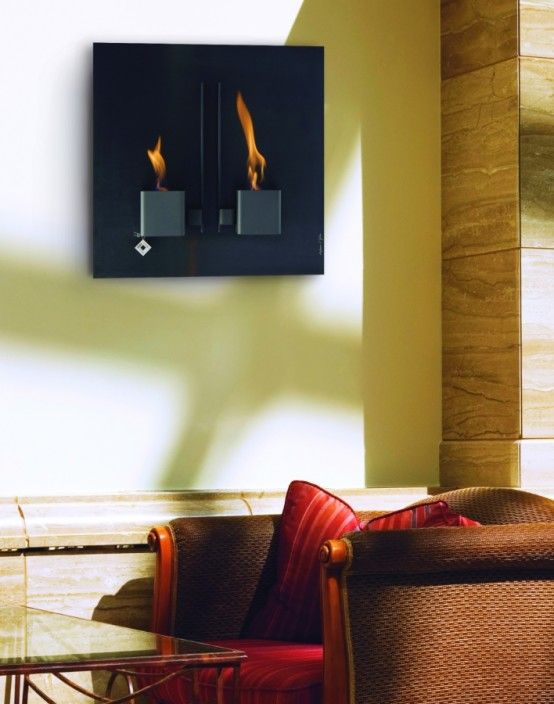 Unique Wall Mount Fireplaces by Aktys | ideas for home | Pinterest ...