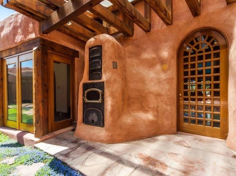 Adobe Outdoor Kitchen In Santa Fe Revival Home Colorado Springs Co Outdoor Kitchen Cob Oven Revival