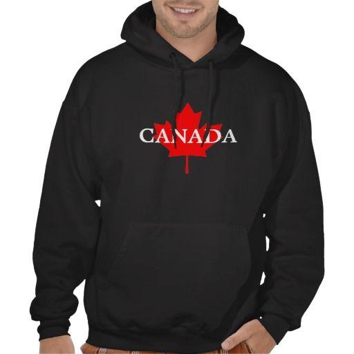 Customizable Canada Maple Leaf Hooded Sweatshirt