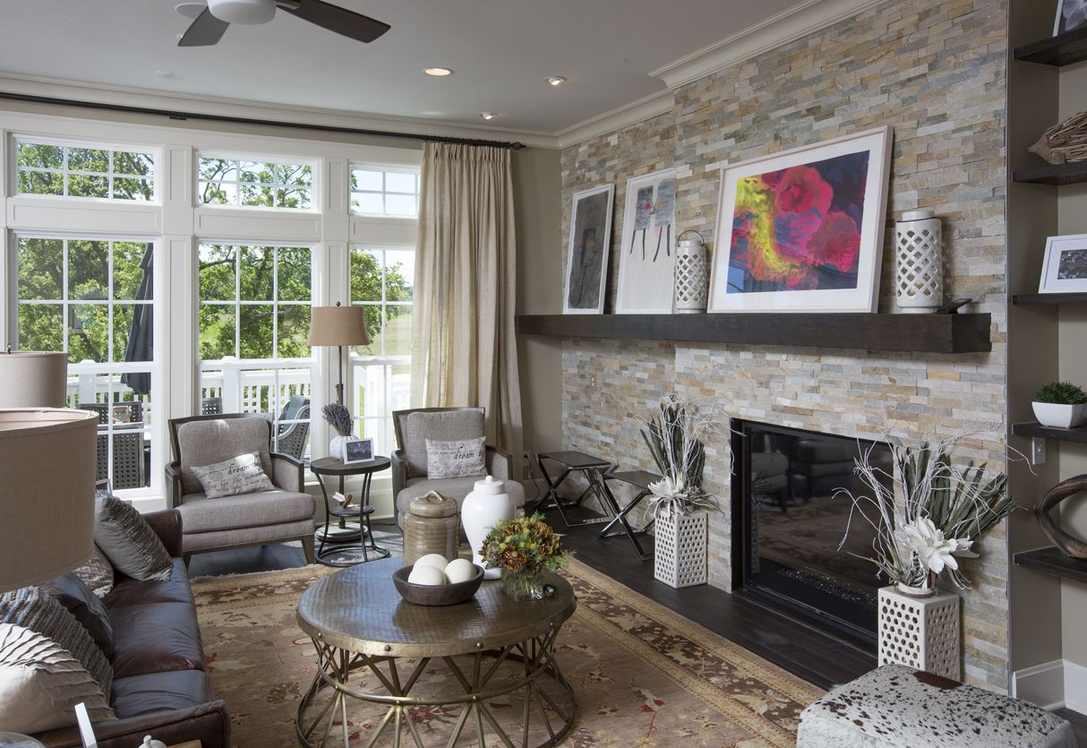 Truberry Home Living Room Fireplace Florida Tile 6x24 Pietra