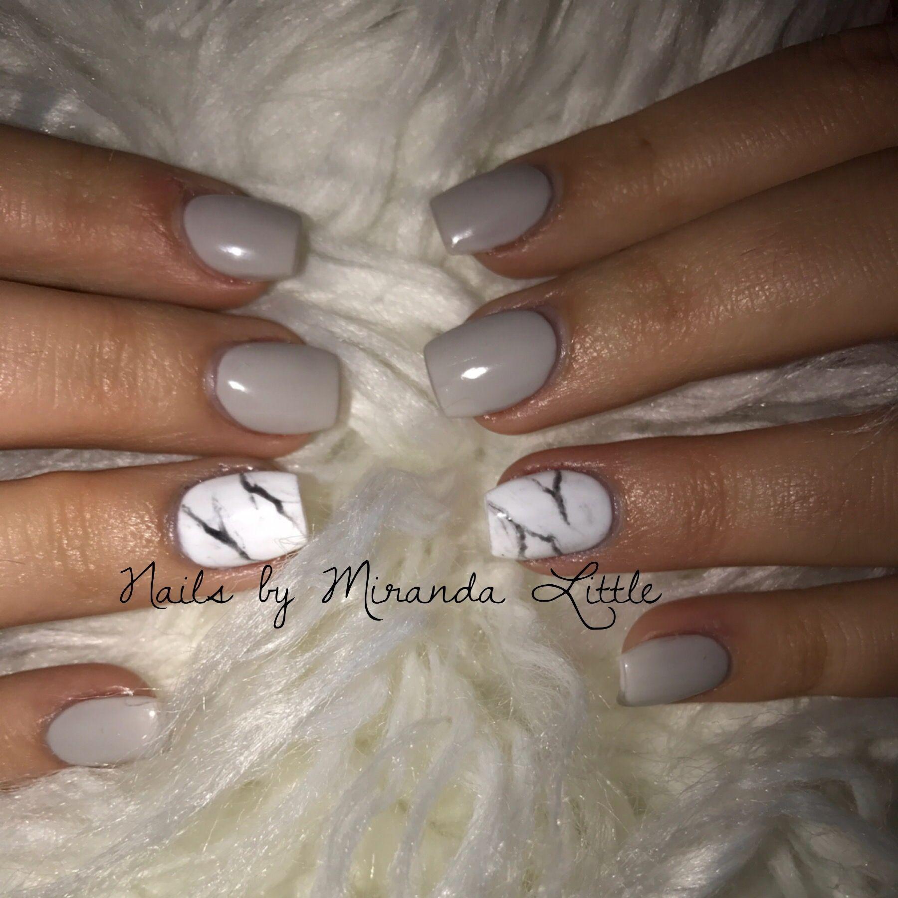 Marble Nail Polish Instructions: Marble Acrylic Nails With CND Shellac Gel Nail Polish