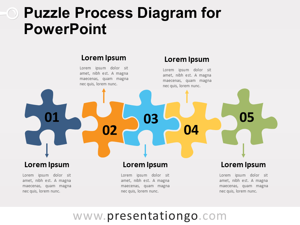 Puzzle process diagram for powerpoint presentationgo free puzzle process diagram for powerpoint ccuart Choice Image