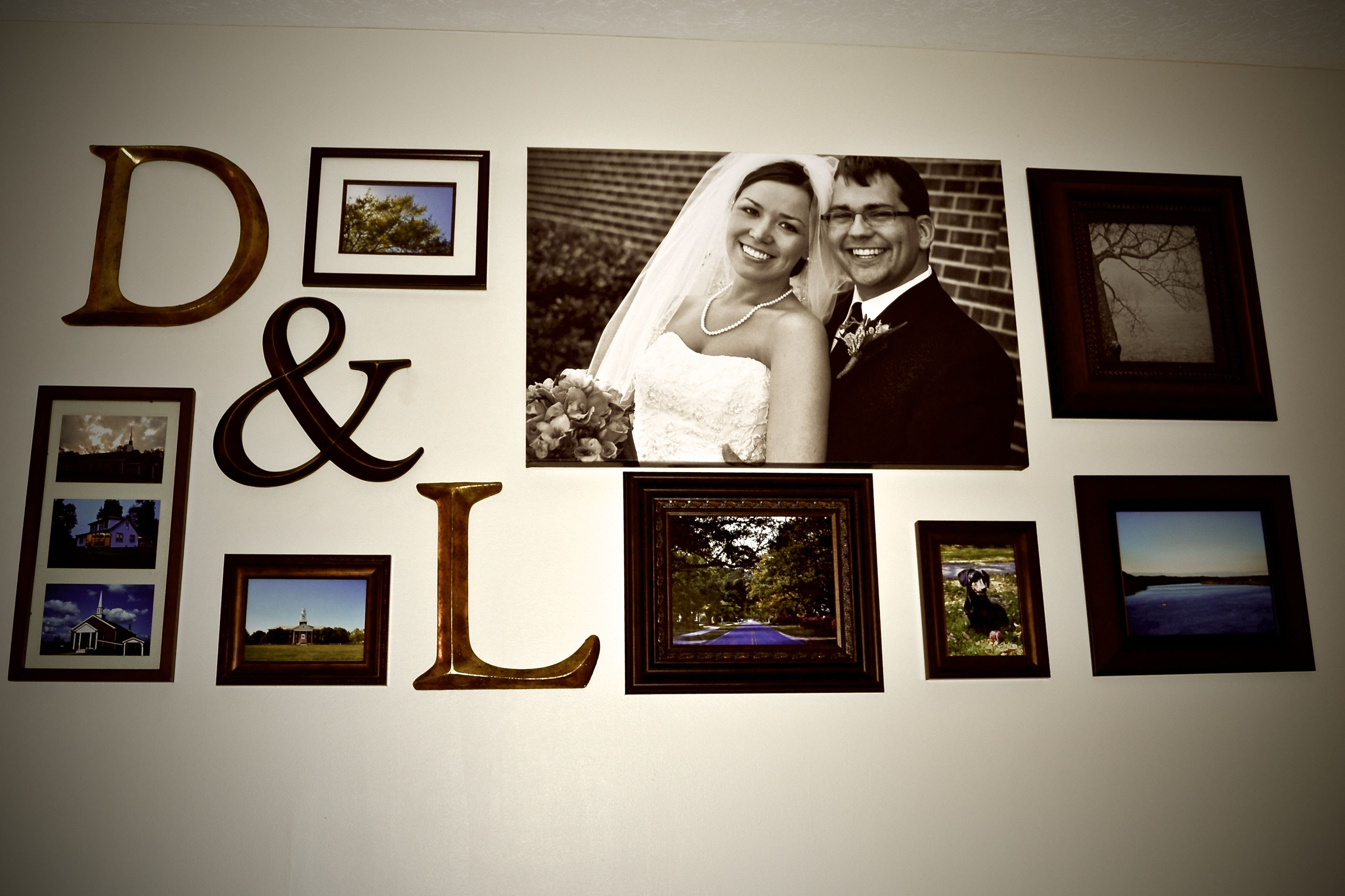 Couple Photo Wall (bedroom wall, just photos of happy us ...