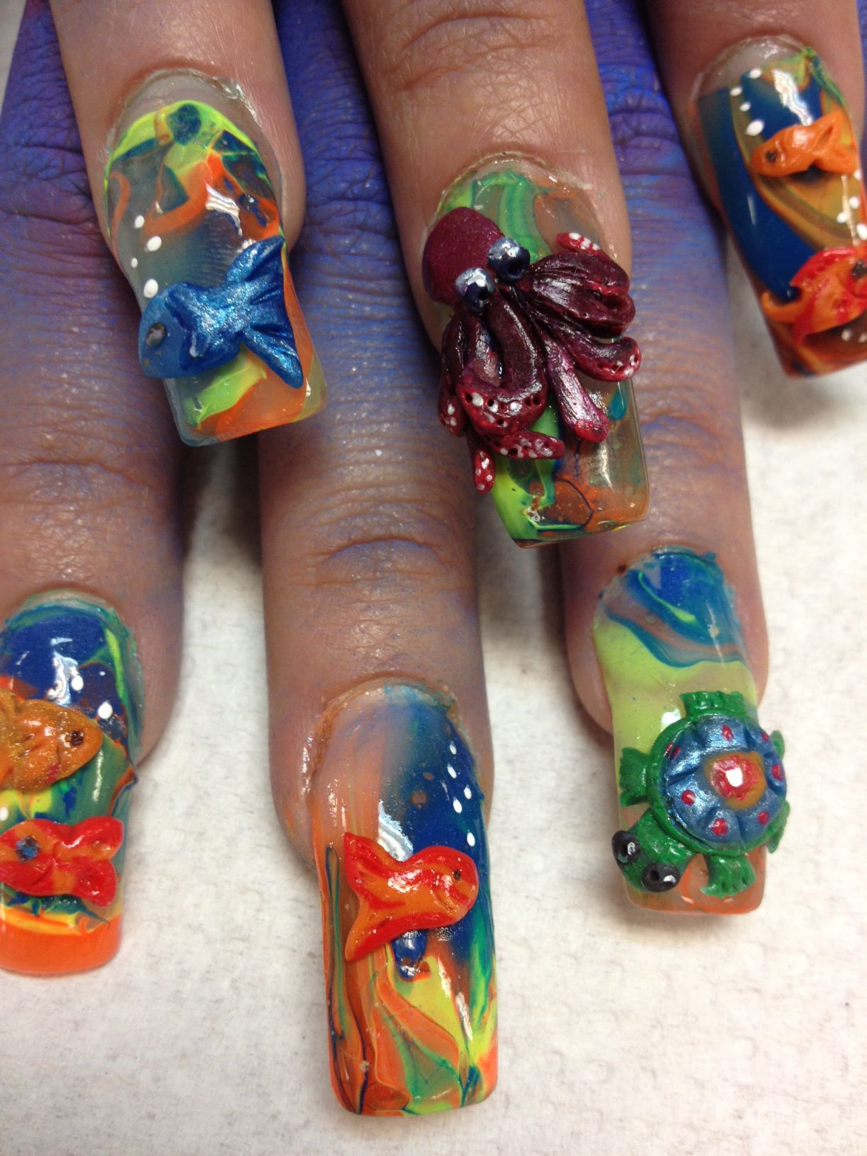 Fish Nail Designs Underwater Theme For Summer Fun Collaborative