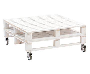 Pallet Tavolino ~ Tavolino con ripiano in abete pallet bianco cm cose da