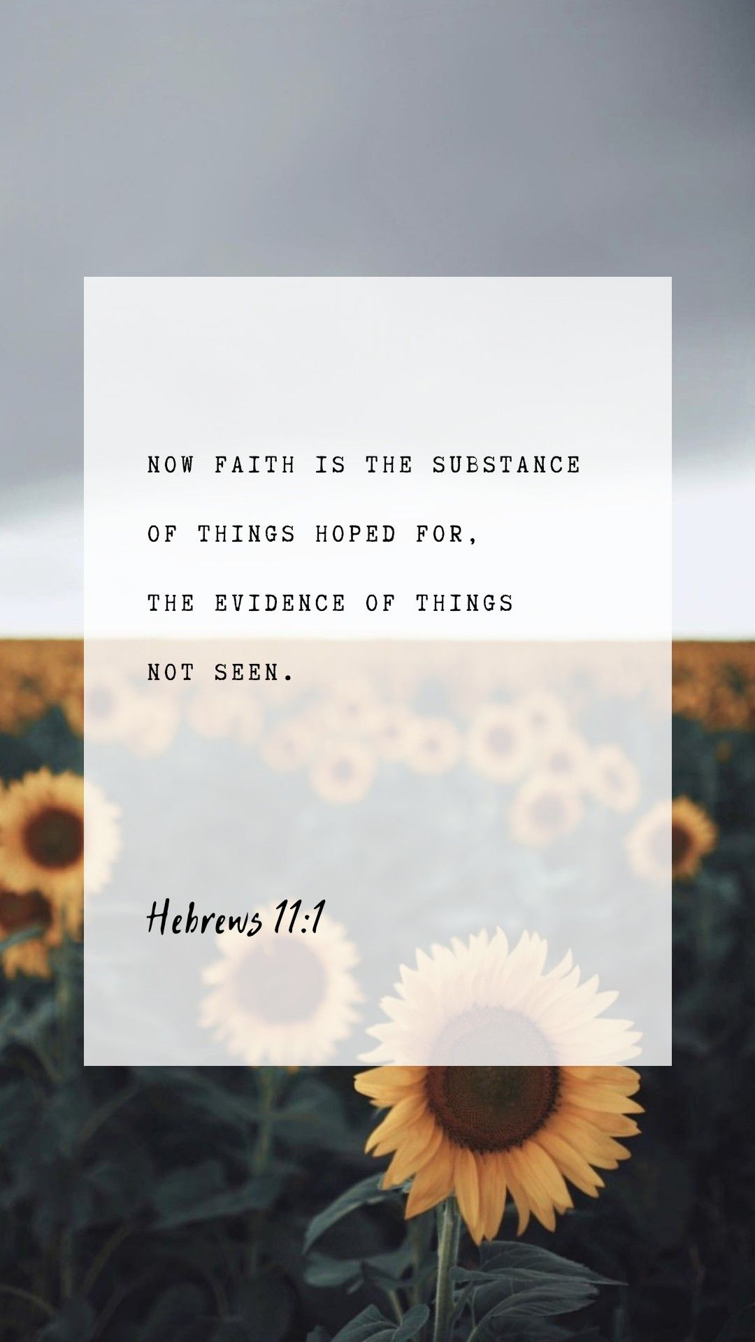 Hebrews 11:1 KJV