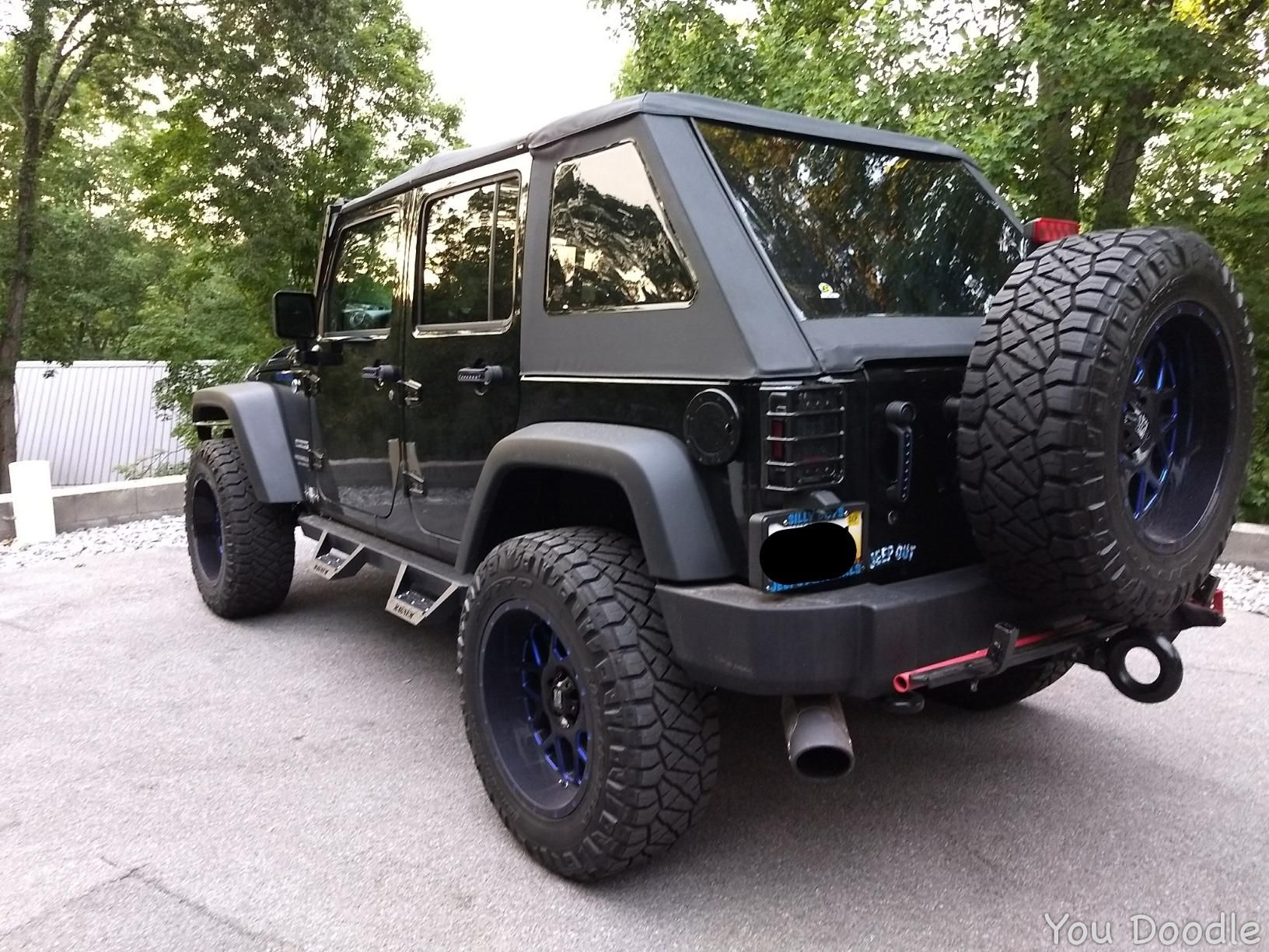 Jeep Wrangler Jku Trektop Soft Top In 2020 Jeep Wrangler Soft Top Jeep Wrangler Doors Black Jeep Wrangler