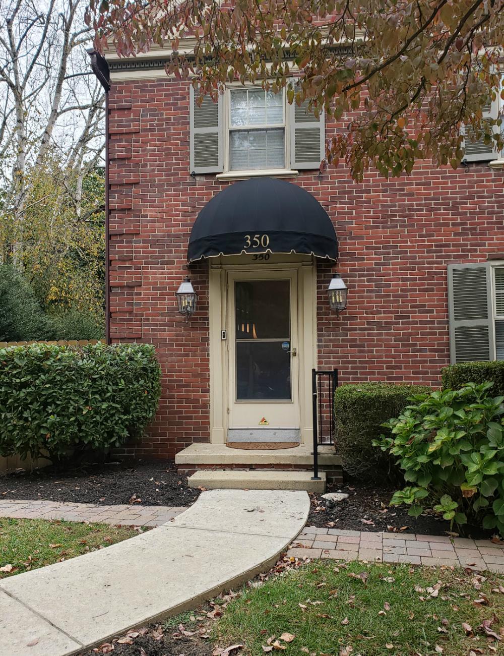 Bullnose Style Doorhood Awning Residential Kreider S Canvas Service Inc Awning Over Door Outdoor Window Awnings Door Overhang