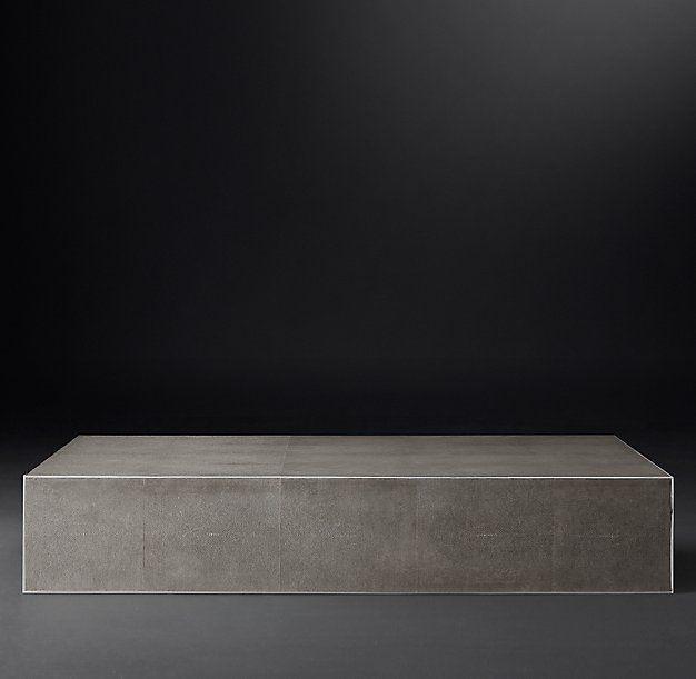 Shagreen Cube Rectangular Coffee Table 1615 In 2019 Cube