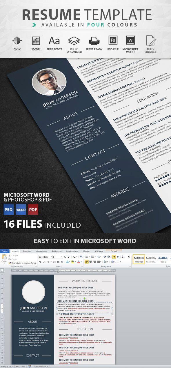 Creative graphic design resume template Meave Pinterest