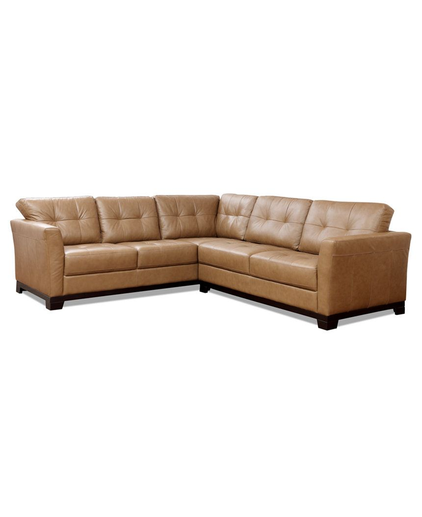 Martino Leather 2 Piece Sectional Sofa Sofa And Apartment Sofa Furniture Macy S 2 Piece Sectional Sofa Sectional Sofa Leather Sectional Living Room