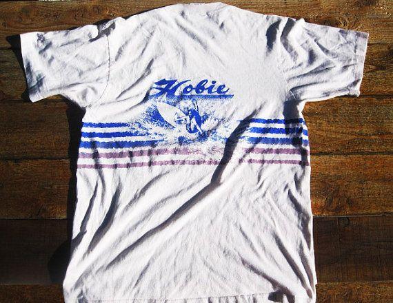 Vintage Lg 80s Hobie Surf T Shirt Vintage Tee Shirts Surf Tshirt T Shirt