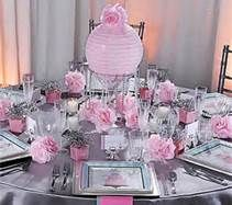 Pink Baby Shower Round Table Decorations Bing Images Donita