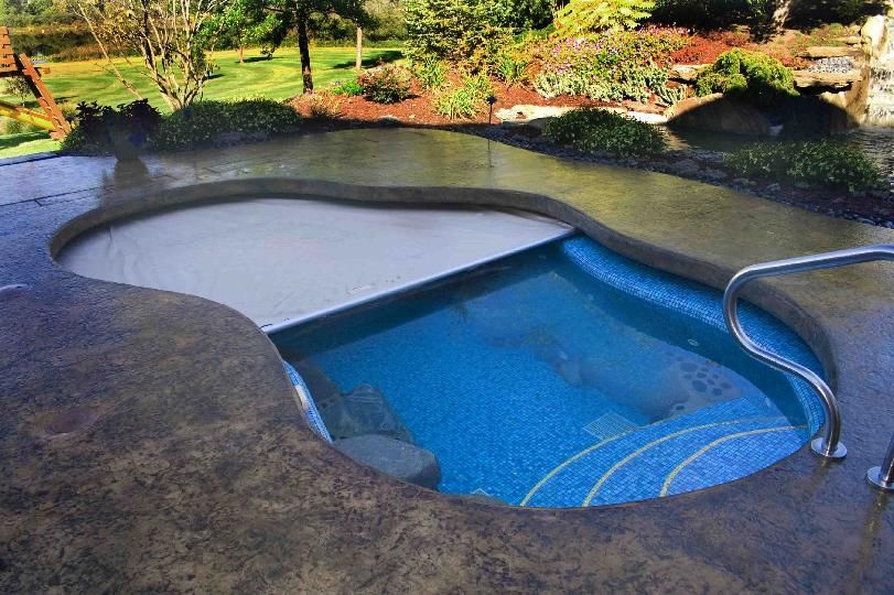Extreme Cantilever Automatic Pool Cover Home Outdoor Living Pools Pinterest Backyard
